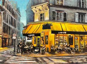 A Paris Cafe at Night